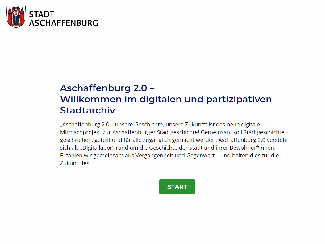Landingpage Aschaffenburg 2.0